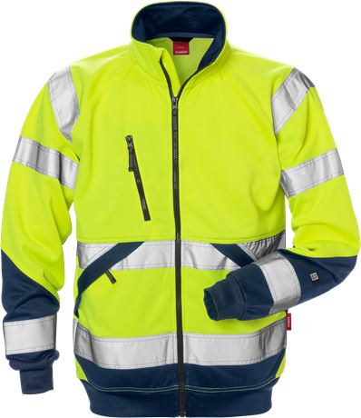 Hi Vis sweat jacket cl. 3  1 Kansas  Large