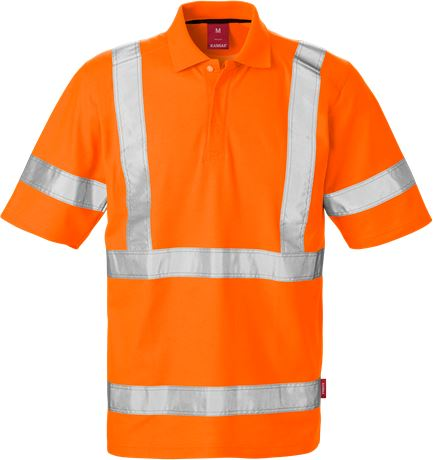 High Vis Poloshirt Kl. 3 7086 PHV 1 Kansas  Large