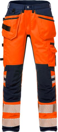 High Vis Handwerkerhose Kl. 2, Flexforce 1 Kansas  Large
