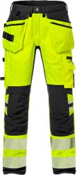 High Vis Handwerkerhose Kl. 2, Flexforce Kansas Medium