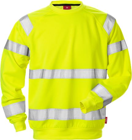 High Vis Sweatshirt Kl. 3 7084 SHV 1 Kansas