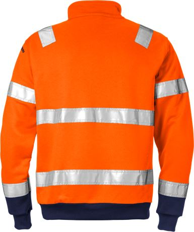 High Vis Zipper-Sweatshirt Kl. 3 728 SHV 2 Fristads  Large