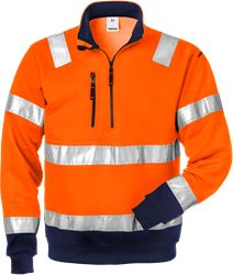 High vis halfzip sweatshirt class 3 728 SHV Fristads Medium