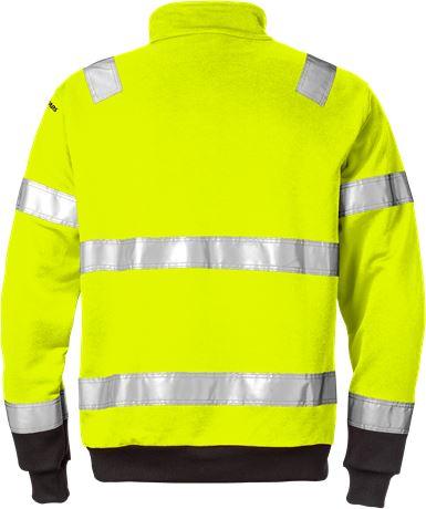 Hi Vis lynlås Sweatshirt kl.3 728 2 Fristads  Large