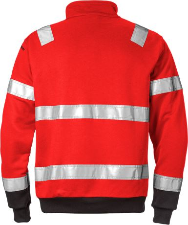 High Vis Zipper-Sweatshirt Kl. 3 728 SHV 2 Fristads  Large