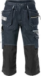 3/4-bukser i denim-stretch 2136 DCS Fristads Medium