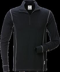Flamestat langermet T-skjorte med kort glidelås 7029 MOF Fristads Medium