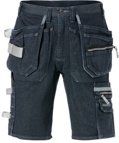 Hantverkarshorts denim stretch 2137 DCS  1 Fristads  Large
