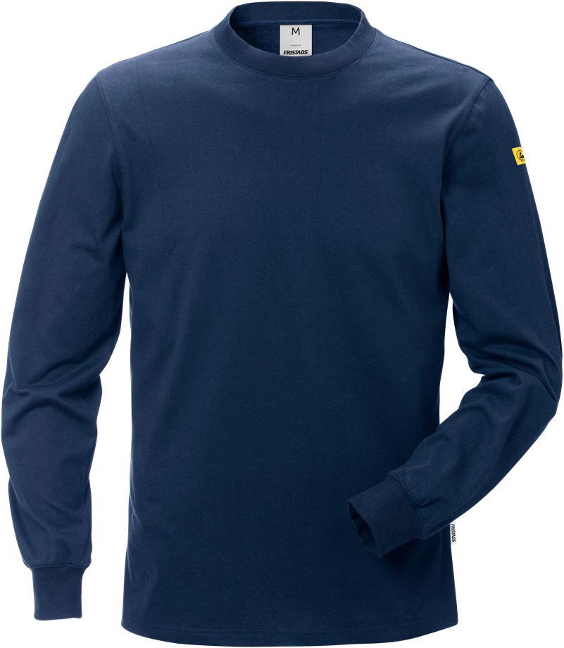 Fristads Men's ESD Långärmad T-shirt 7082 XTM, Mörk marinblå