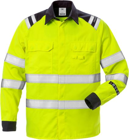 Flamestat high vis shirt class 3 7050 ATS 1 Fristads  Large