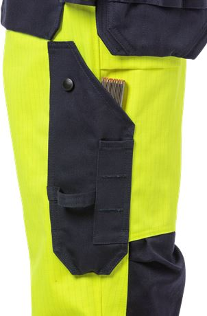Flame high vis craftsman trousers woman class 2 2589 FLAM 3 Fristads  Large