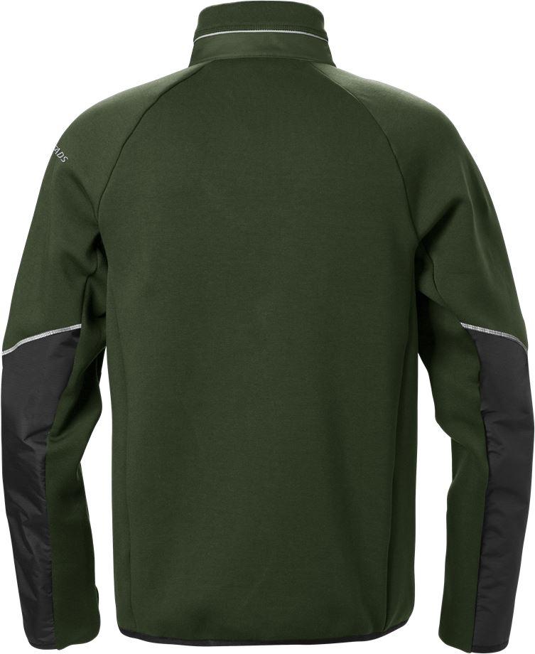 Fristads Men's Sweatshirt-jacka 7513 DF, Militärgrön/Svart