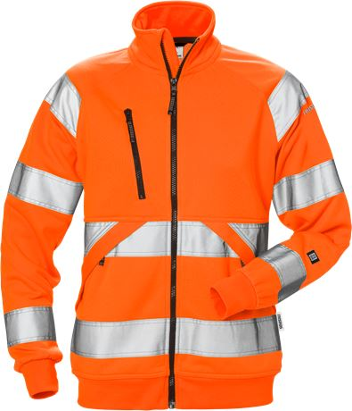 Varsel sweatshirt-jacka 7427 SHV klass 3, dam 1 Fristads  Large