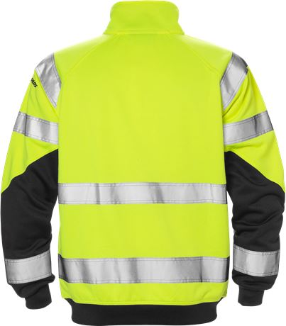 High vis sweat jacket class 3 7426 SHV 2 Fristads  Large