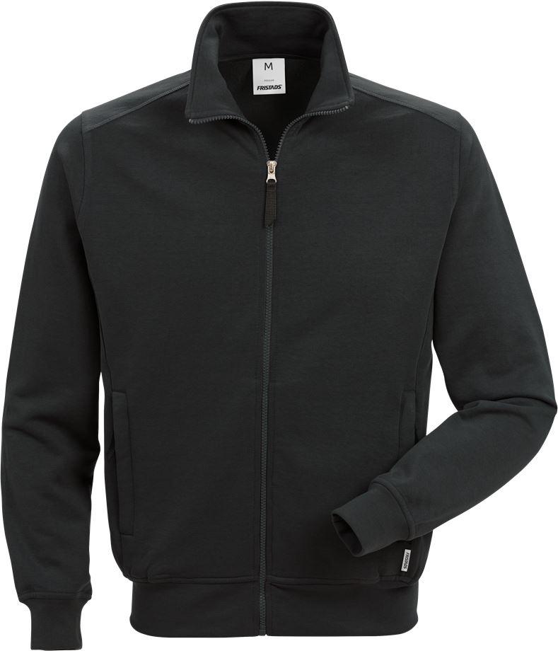 Fristads Men's Sweatshirt-jacka 7608 SM, Svart