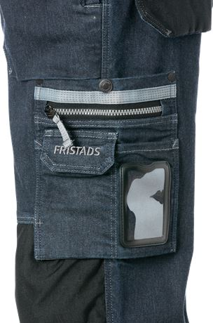 Denim stretch pirate trousers 2136 DCS 5 Fristads  Large