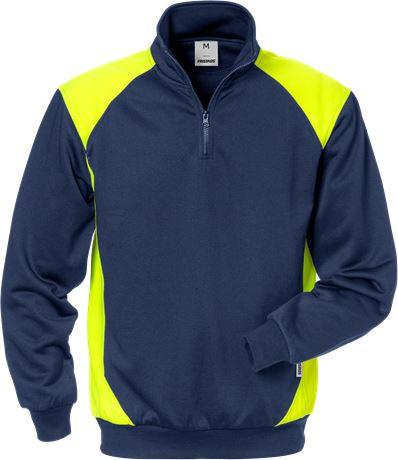 Sweatshirt med kort dragkedja 7048 SHV 1 Fristads