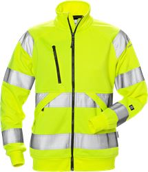 Felpa full zip donna high vis. CL. 3 7427 SHV Fristads Medium