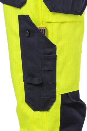 Flame high vis craftsman trousers class 2 2584 FLAM 3 Fristads  Large