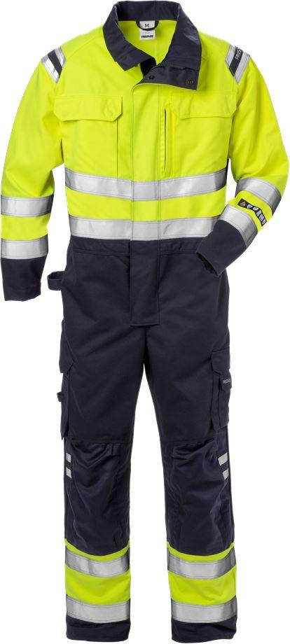 Fristads Men's Flamestat overall 8175 ATHS, klass 3, Varsel Gul/Marinblå