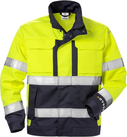 Flame high vis jacket class 3 4584 FLAM 1 Fristads  Large