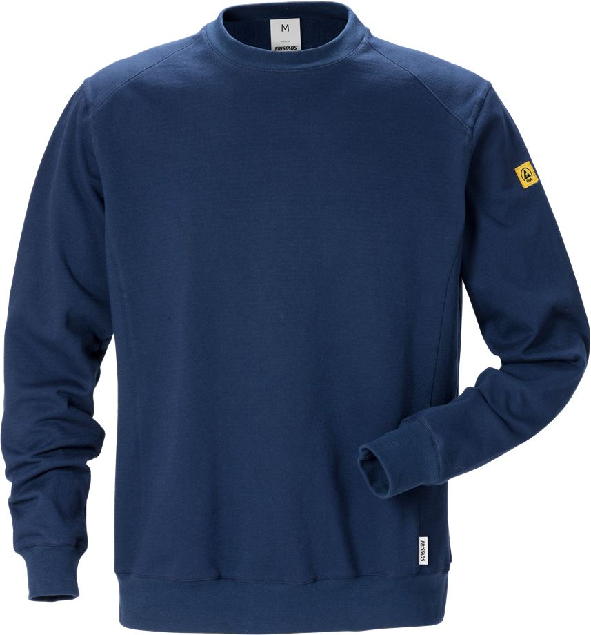 Fristads Men's ESD Sweatshirt 7083 XSM, Mörk marinblå