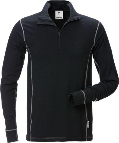 Flamestat Zipper-T-Shirt Langarm 7029 MOF 1 Fristads  Large