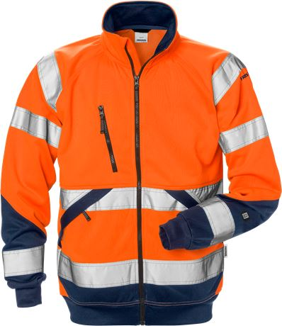 High vis sweat jacket class 3 7426 SHV 1 Fristads  Large
