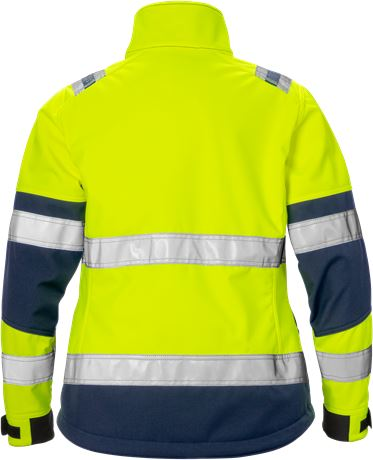 High vis softshell jacket woman class 2 4183 WYH 2 Fristads  Large