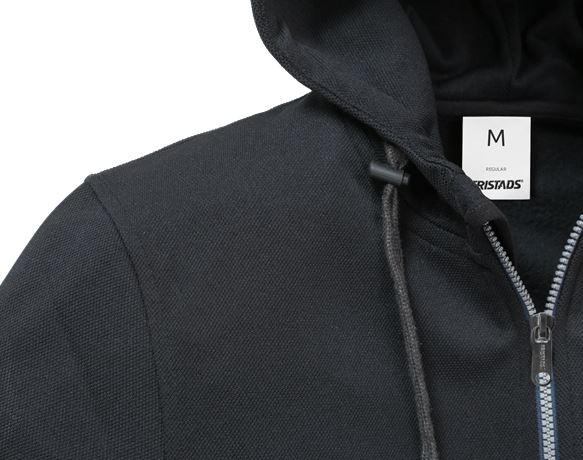 Sweatshirt-jacka med huva 7783 LYS 3 Fristads  Large