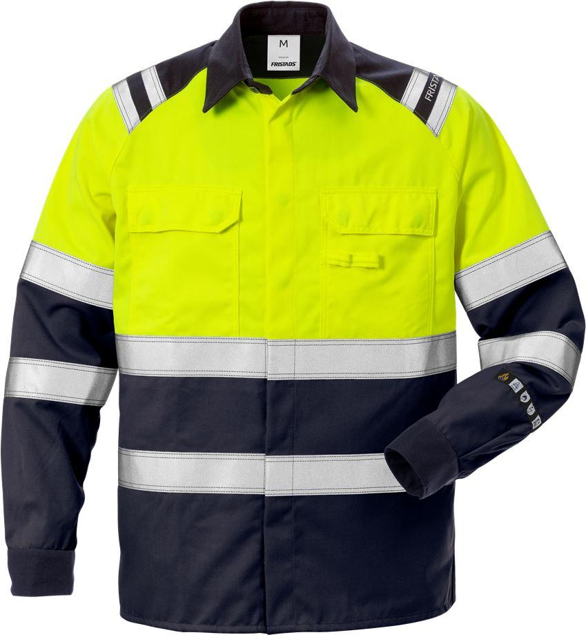 Fristads Men's Flamestat Skjorta 7051 ATS, klass 1, Varsel Gul/Marinblå