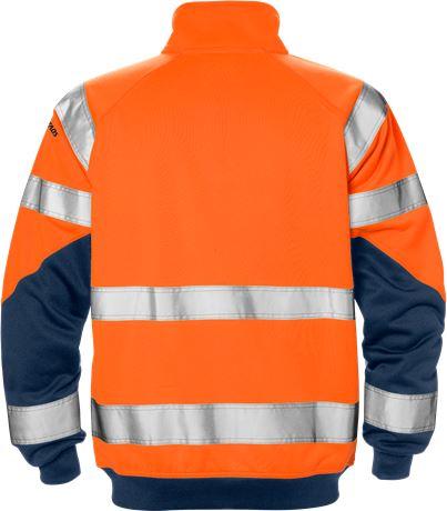 High vis sweat jacket class 3 7426 SHV 2 Fristads  Large