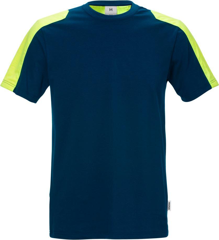 Fristads Men's T-shirt stretch 7447 RTT, Mörk marinblå