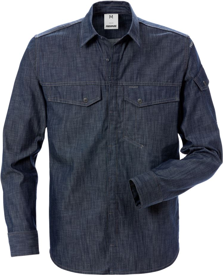 Fristads Men's Jeansskjorta 7003 DSH, Indigoblå