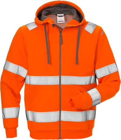 Varsel Sweatshirt-jacka med huva 7408 SHV, klass 3 1 Fristads  Large