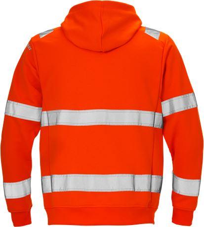 High vis hooded sweat jacket cl 3 7408 SHV 2 Fristads  Large