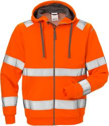 High vis hooded sweat jacket cl 3 7408 SHV Fristads Medium
