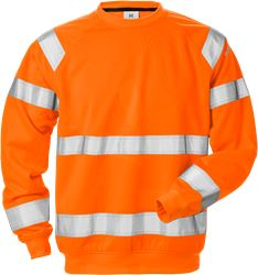 High Vis Sweatshirt Kl. 3 7446 SHV Fristads Medium