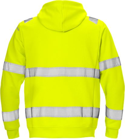 High vis hooded sweat jacket cl 3 7408 SHV 2 Fristads  Large