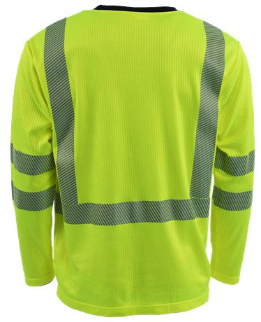 T-shirt Long Sleeves HiVis 1.0 2 Leijona Solutions  Large