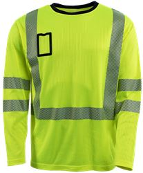 T-Shirt langärmelig HiVis 1.0 Leijona Solutions Medium