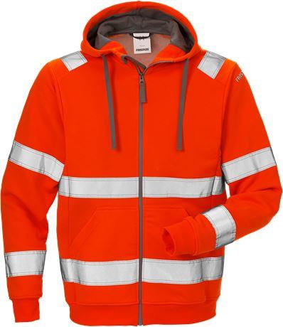 High vis hooded sweat jacket cl 3 7408 SHV 1 Fristads  Large