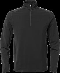 Acode stretch sweatshirt met korte ritssluiting 1763 TSP Acode Medium