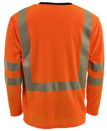 T-paita Pitkähihainen HiVis 1.0 2 Leijona  Large