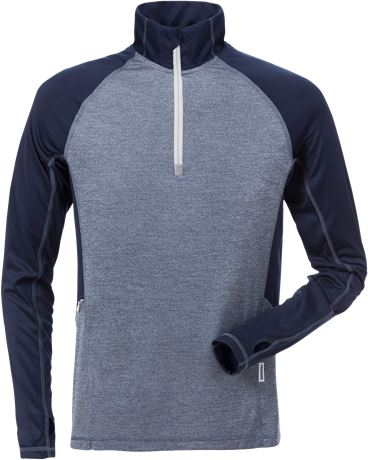 Half zip functional long sleeve t-shirt 7514 LKN 1 Fristads