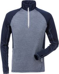 Half zip long sleeve t-shirt 7514 LKN Fristads Medium