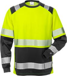High vis T-shirt lange mouwen klasse 2 7457 THV Fristads Medium