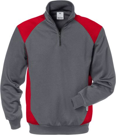 Sweatshirt med kort dragkedja 7048 SHV 1 Fristads  Large