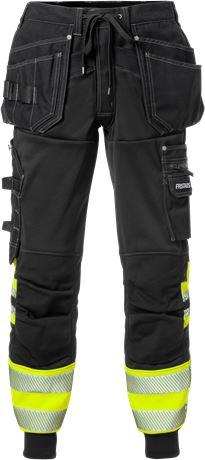 High vis craftsman jogger trousers class 1 2519 SSL 1 Fristads  Large