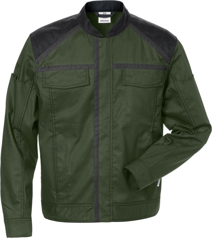 Fristads Men's Jacka 4555 STFP, Militärgrön/Svart